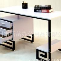 定制 多功能日式电脑桌办公桌 精致纯白复古带三抽电脑办公桌