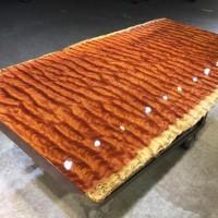 巴花实木大板办公桌书桌会议桌茶桌茶几传统实木大板收藏货