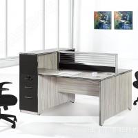 华都家具新款休闲简约员工办公桌 钢制电脑桌现代时尚主管桌