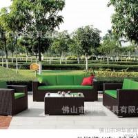 箐藤屋 户外编仿藤沙发 庭院花园户外组合四件套沙发仿藤家具8