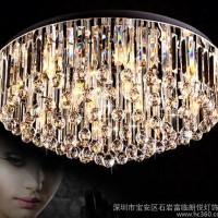 水晶灯现代简约客厅灯奢华大气餐厅灯吸顶灯led直销3055