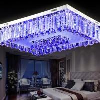 奢华水晶灯长方形客厅灯led吸顶灯现代简约大气卧室灯具餐厅灯