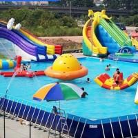 北京天健游乐   生产销售 支架游泳池水池  大型充气水上蹦床 充气水上乐园设施 支架游泳池水池