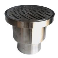 不锈钢重型洁净地漏双水封防臭条形格珊面板适用DN50-100下水管