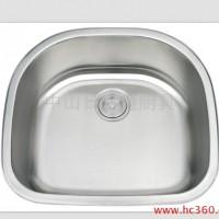 供应厂家供应 台下盆单槽 SUS304-A6053 北美厨房不锈钢水槽 一体拉伸